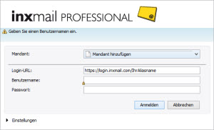 Inxmail Professional Login
